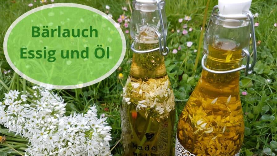 Bärlauch Essig und Öl