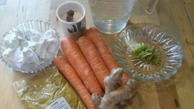 Karotten-Ingwer-Suppe Zutaten (c) Heike Engel